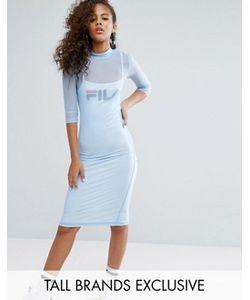 Fila Tall | Облегающее Платье Миди С Сетчатым Верхним Слоем И Логотипом
