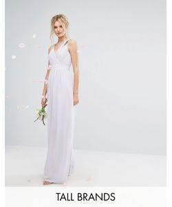TFNC Tall | Декорированное Платье Макси С Запахом Wedding
