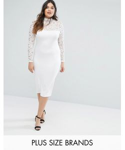 Missguided Plus | Кружевное Платье Миди
