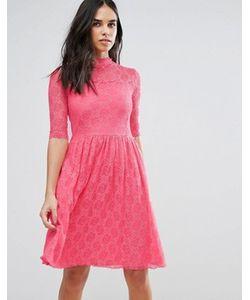 Liquorish | Приталенное Кружевное Платье Миди