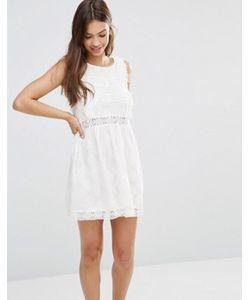 Minkpink | Короткое Приталенное Платье Из Кружева