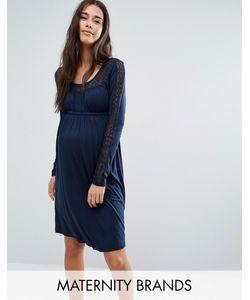 Mama Licious | Свободное Платье С Длинными Рукавами И Кружевом Mamalicious