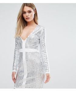 Starlet | Платье Мини С Отделкой Заклепками И V-Образным Вырезом