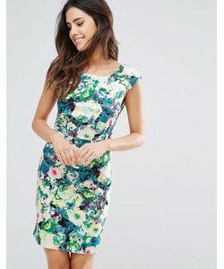 Louche | Платье С Овальным Вырезом И Цветочным Принтом