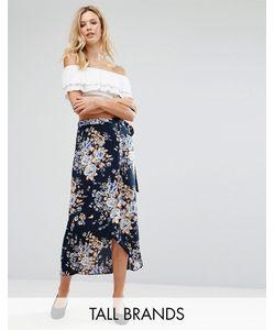 Vero Moda Tall | Юбка Макси С Цветочным Принтом И Запахом