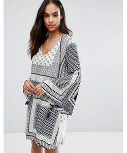 Qed London | Цельнокройное Платье С Платочным Принтом