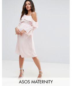 ASOS Maternity   Платье Миди На Одно Плечо