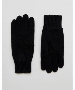 Selected Homme   Черные Перчатки Leth