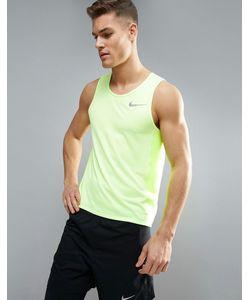 Nike Running | Желтая Майка Miler Breathe 834238-701