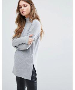 New Look | Туника В Рубчик С Высоким Воротом