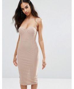 MISHA | Платье-Футляр На Бретельках С Корсетным Лифом На Косточках Collection