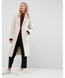 Asos | Фактурное Облегающее Пальто С Карманами