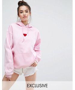 Adolescent Clothing | Oversize-Худи С Нашивкой В Форме Сердца