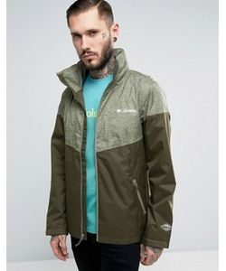 Columbia   Зеленая 2-Цветная Водонепроницаемая Куртка С Капюшоном Inner Limits