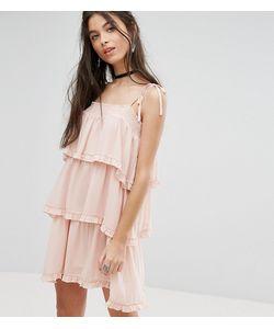 Glamorous Petite | Платье На Бретельках С Ярусными Оборками