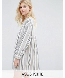 ASOS PETITE | Свободное Платье В Полоску С Длинными Рукавами