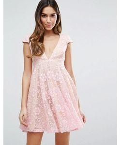 JARLO | Кружевное Чайное Платье Мини