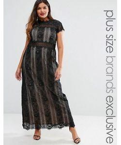 Truly You | Платье Макси С Кружевными Вставками И Короткими Рукавами