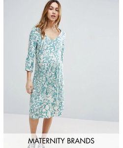Mama Licious | Чайное Платье С Цветочным Принтом Mamalicious
