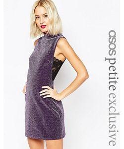 ASOS PETITE | Блестящее Цельнокройное Платье С Кружевными Вставками По Бокам