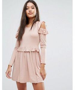 MISSGUIDED | Платье Мини С Открытыми Плечами И Оборками