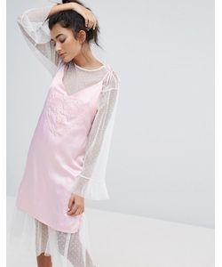 Lazy Oaf | Атласное Платье На Бретельках Dream On