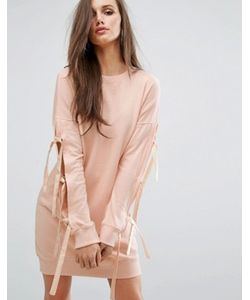MISSGUIDED | Трикотажное Платье С Бантами На Рукавах