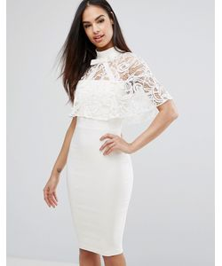 Vesper | Платье-Футляр 2-В-1 С Кружевным Кейпом