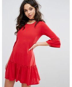 boohoo | Свободное Платье С Оборками