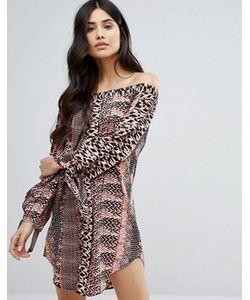 AX Paris | Платье Мини С Открытыми Плечами И Принтом
