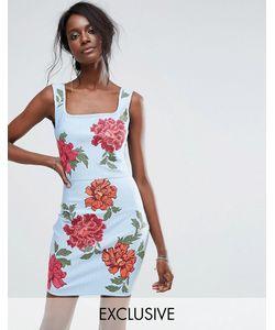 MISSGUIDED | Бандажное Платье С Вышивкой