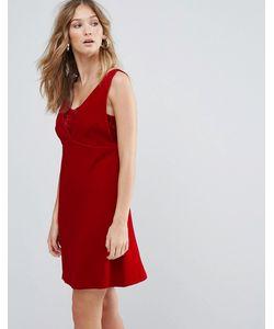 Deby Debo | Платье Мини С V-Образным Вырезом Ezra