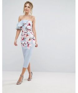 True Violet | Асимметричное Платье На Одно Плечо С Цветочным Принтом