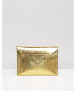 Leather Satchel Company | Золотистый Клатч