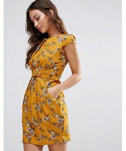 Qed London | Платье-Тюльпан С Принтом