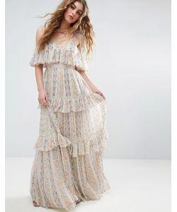 Needle & Thread | Платье Макси С Плиссировкой И Цветочным Принтом Needle And Thread