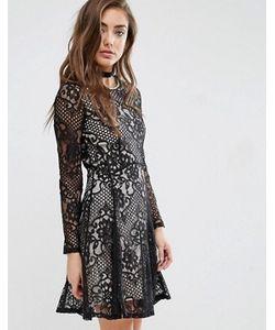 Miss Selfridge | Короткое Приталенное Платье С Кружевом