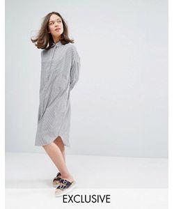 Monki | Платье-Рубашка Миди