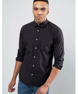 Esprit | Черная Рубашка Слим На Пуговицах