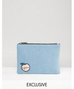 Skinnydip | Exclusive Lifes A Peach Denim Pouch
