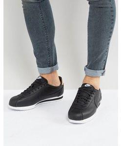 Nike | Черные Кожаные Кроссовки Cortez Se 861535-004