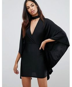 NaaNaa | Платье Мини С Глубоким Вырезом Спереди И Кейпом