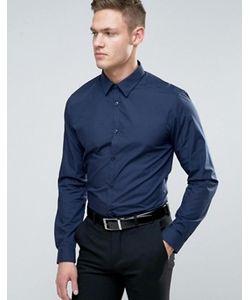 New Look | Темно-Синяя Рубашка Классического Кроя Из Поплина