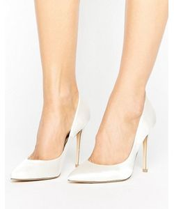 Faith   Белые Атласные Туфли-Лодочки С Острым Носом Chloe
