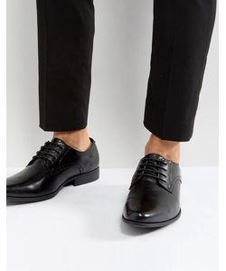 Asos | Черные Туфли Дерби Из Искусственной Кожи