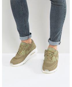 Nike | Зеленые Кроссовки Air Max 90 Ultra Breathe 898010-200