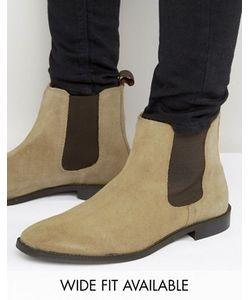 Asos | Бежевые Замшевые Ботинки Челси Со Вспомогательной Петлей Доступна Модель