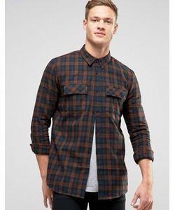 New Look | Рубашка Классического Кроя В Клетку С Двумя Карманами