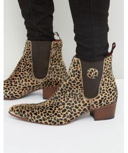 Jeffery west | Леопардовые Ботинки Челси С Ворсом Sylvian