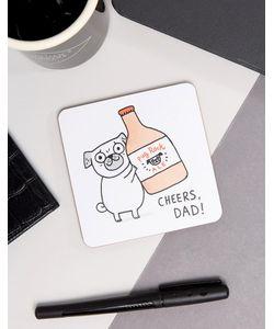 OHH DEER | Подставка Под Напитки С Надписью Cheers Dad